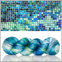 MOSAIC TILE SUPERWASH MERINO SILK PEARLESCENT FINGERING