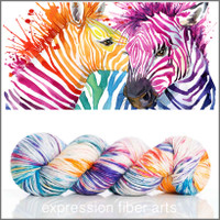 HAPPY ZEBRAS SUPERWASH MERINO SILK PEARLESCENT WORSTED
