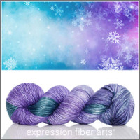 LOST IN THE FROST SUPERWASH MERINO SILK PEARLESCENT WORSTED