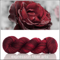 RED VELVET ROSE 'BUTTERY' WOOL BULKY