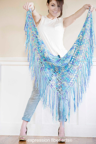 Free Crochet Boho Triangle Shawl Pattern