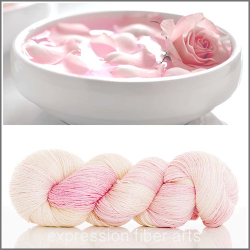 ROSE WATER YAK SILK LACE