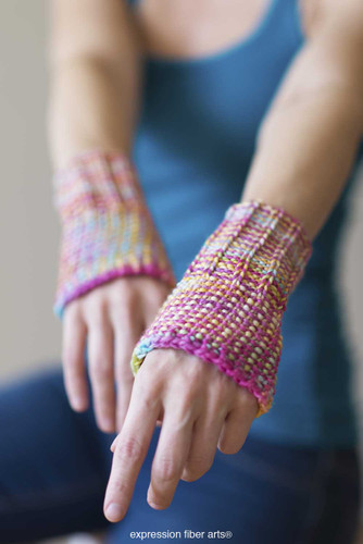 Writer's Wrist Warmers Free Knitted Pattern