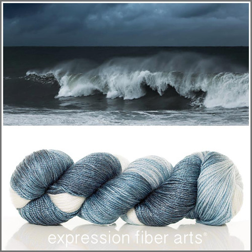 CRASHING WAVES 'LUSTER' SUPERWASH MERINO TENCEL SPORT