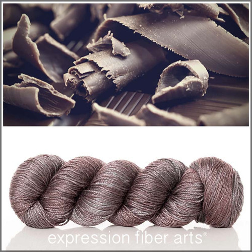 BELGIAN CHOCOLATE SHAVINGS 'LUSTER' SUPERWASH MERINO TENCEL SPORT