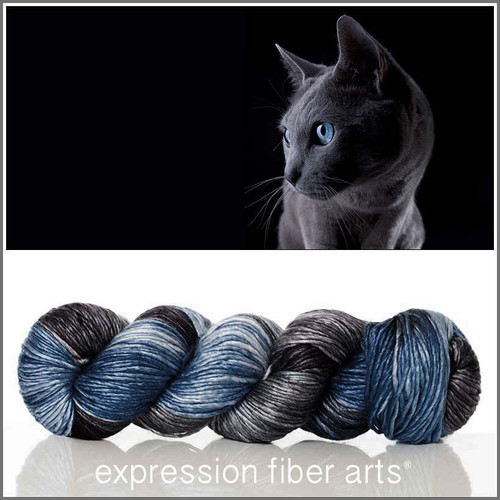 RUSSIAN BLUE SUPERWASH MERINO SILK PEARLESCENT WORSTED