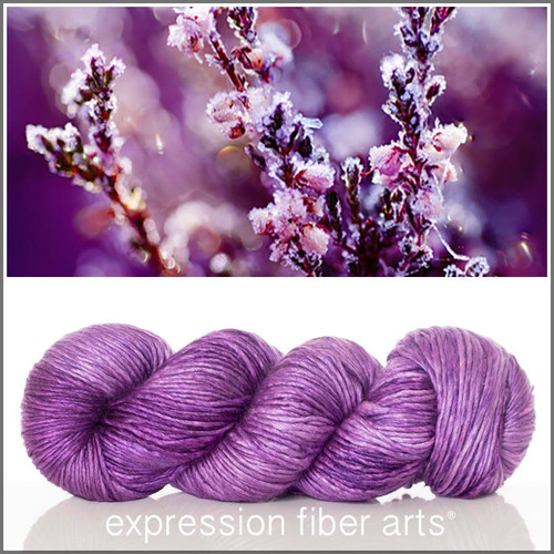 FROZEN HEATHER SUPERWASH MERINO SILK PEARLESCENT WORSTED