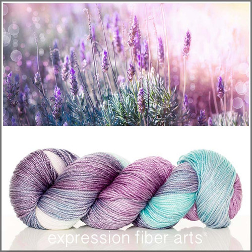 LAVENDER AND LIGHT 'LUSTER' SUPERWASH MERINO TENCEL SPORT