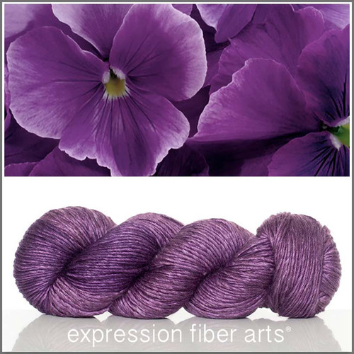 PANSY SUPERWASH MERINO SILK PEARLESCENT WORSTED