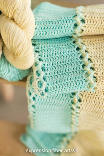 Ocean-Inspired Crochet Baby Blanket