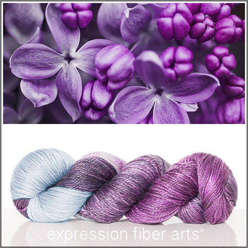A PASSION FOR PURPLE 'LUSTER' SUPERWASH MERINO TENCEL WORSTED