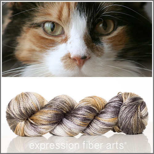 CALICO CAT 'LUSTER'  SUPERWASH MERINO TENCEL WORSTED
