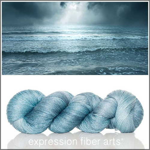 SEA BLUE YAK SILK LACE