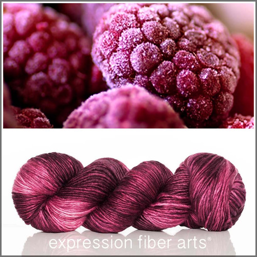 BERRY FREEZE SUPERWASH MERINO SILK PEARLESCENT WORSTED