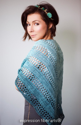 Teal Tenacity Crochet Shawl Pattern