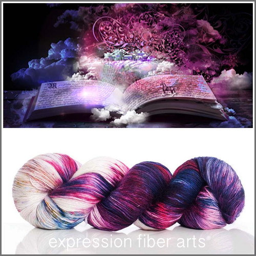 MAGIC OF BOOKS SUPERWASH MERINO SILK PEARLESCENT FINGERING