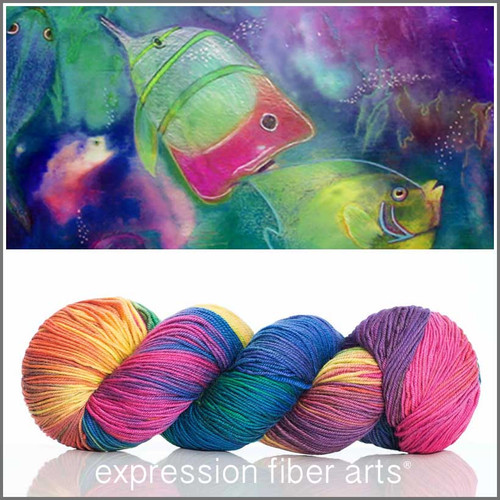 TROPICAL FISH 'RESILIENT' SUPERWASH MERINO SOCK