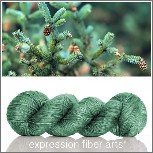 ALL SEASONS GREEN SUPERWASH MERINO SILK PEARLESCENT FINGERING