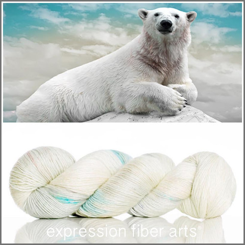 POLAR BEAR SUPERWASH MERINO SILK PEARLESCENT FINGERING