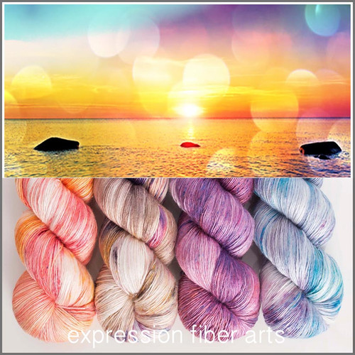 ROMANTIC MORNING HUES PEARLESCENT FINGERING KIT