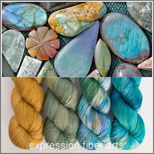 SEMIPRECIOUS HUES PEARLESCENT FINGERING KIT
