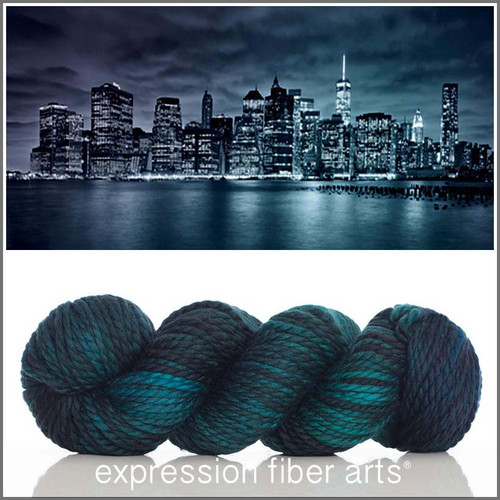 Pre-Order NEW YORK AT NIGHT 'BUTTERY' WOOL BULKY