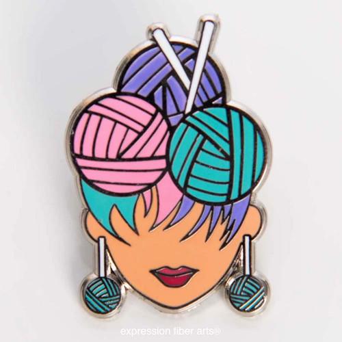 Yarn Diva Enamel Pin