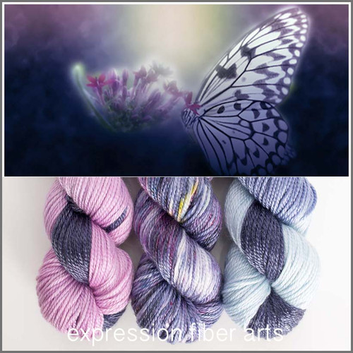 MARIPOSA 'LUSTER' WORSTED KIT + BOOKMARK