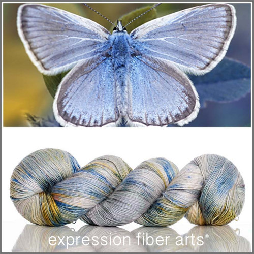 MISSION BLUE BUTTERFLY 'PEARLESCENT' FINGERING