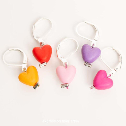 Hearts 5-Pack Opening Stitch Markers