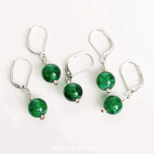 Forest Green 5-Pack Opening Stitch Markers