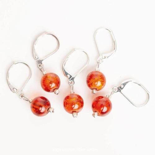 Burnt Orange 5-Pack Opening Stitch Markers
