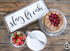 Stay For Cake Framed Wood Sign
