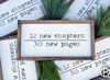 12 New Chapter 365 Pages Framed Wood Sign