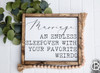 Marriage... Your Favorite Weirdo Framed Wood Sign