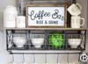 Coffee Bar Framed Wood Sign