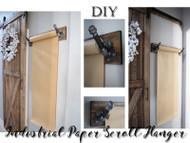 Industrial Brown Paper Scroll Holder