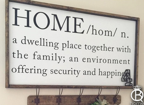 Home Framed Wood Sign