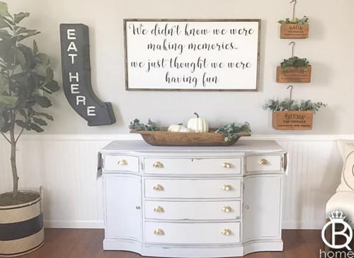 Making Memories Framed Wood Sign