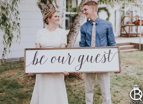 Be Our Guest Wood Sign 48x12