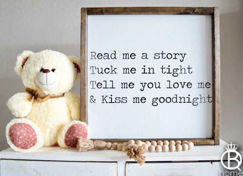 Read Me A Story... Wood Sign 16x16