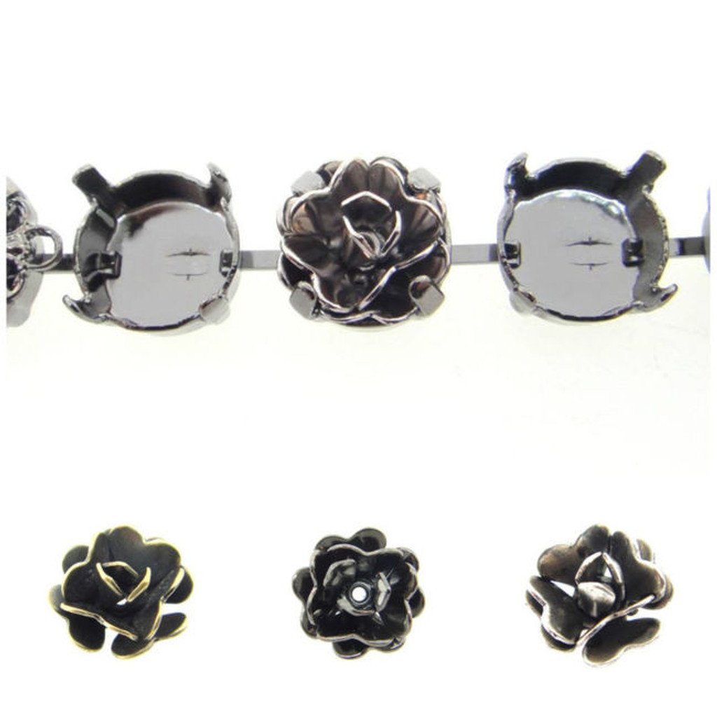 11mm | Rose Element | 12 Pieces
