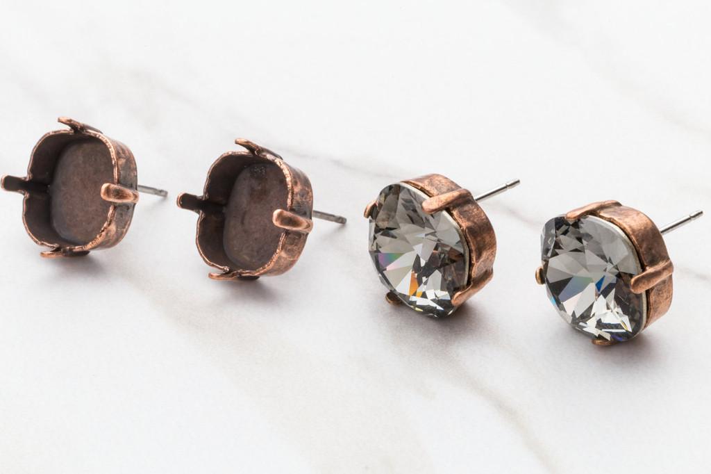 12mm Square Stud Earrings