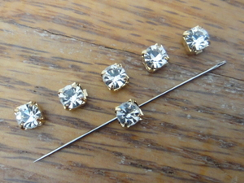 4mm Austrian Sew On Crystals - 50 Pieces