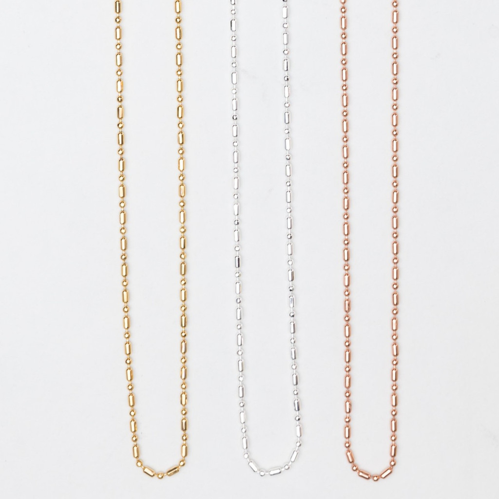 Ball Necklace Chain | Three Pieces