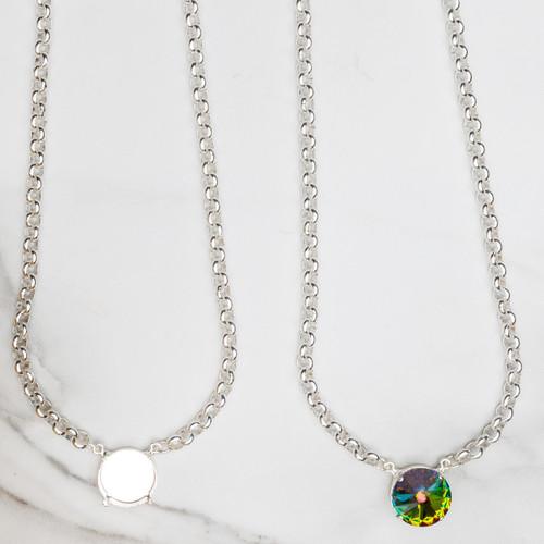 18mm Round   Pendant Necklace   Three Pieces