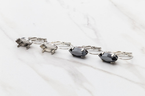 15mm x 7mm Navette | Drop Earrings | Three Pairs