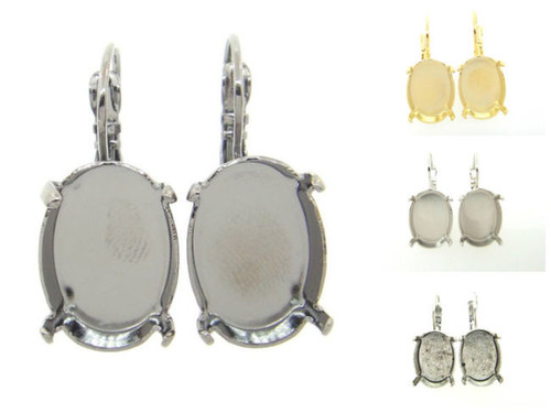 18mm x 13mm Oval Drop Earrings