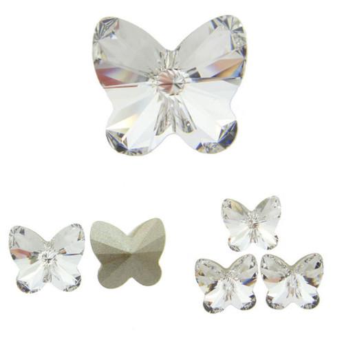 10mm Fancy | Rivoli Butterfly | Swarovski Article 4748 | 12 Pieces