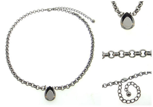 18mm x 13mm Pear | Pendant Necklace | Three Pieces